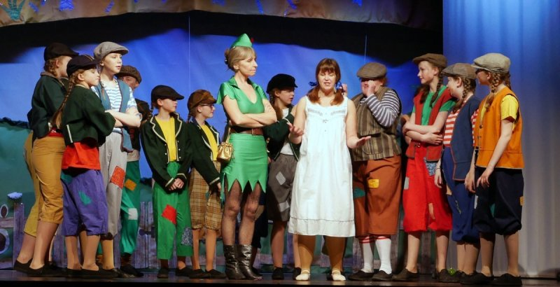 Peter Pan & Wendy with the Lost Boys